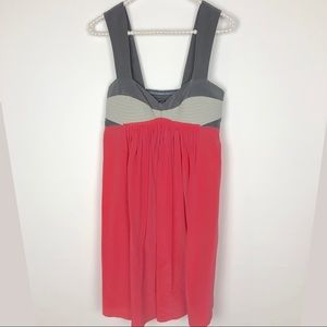 🌴BLACK HALO Coral Pink Gray Sweetheart Dress-215